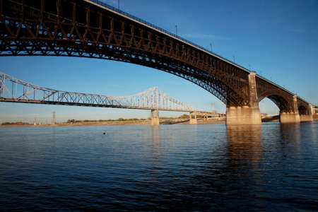 Eads Bridge at St. Louis, Missouri, Illinois, USA