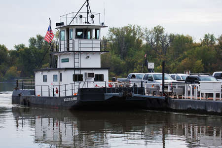 belle: Belle of Calhoun ferry boat carrying vehicles across the river