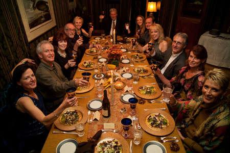 A dinner gathering