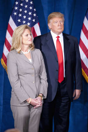 donald: Trump International Hotel, Las Vegas, Nevada - February 2, 2012 - Donald Trump standing next to Ann Romney