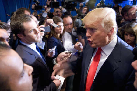 endorsement: Trump International Hotel, Las Vegas, Nevada - February 2, 2012 - Donald Trump speaking with the media