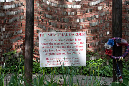 north   end: North End, North Church, Boston, MA - May 11, 2012 - Memorial Garden for troops who died in Afganistan and Iraq wars