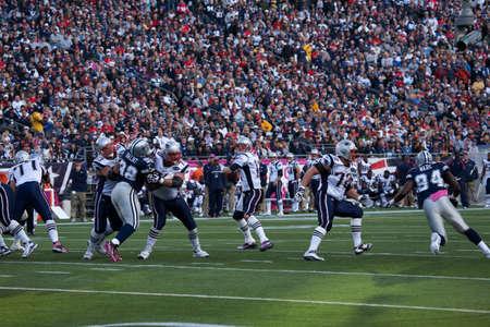 Gillette Stadium, Foxborough, MA - October 16, 2011 - Quarterback Tom Brady #12, New England Patriots passes in the game between New England Patriots vs Dallas Cowboys