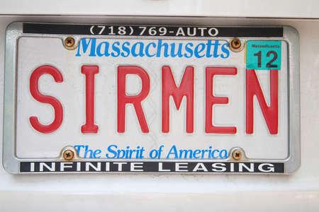 vanity: Vanity license plate - Massachusetts