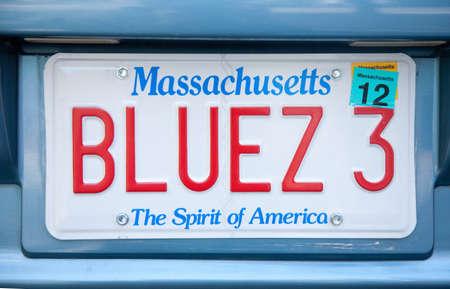 虚栄心のナンバー プレート - マサチューセッツ州 報道画像