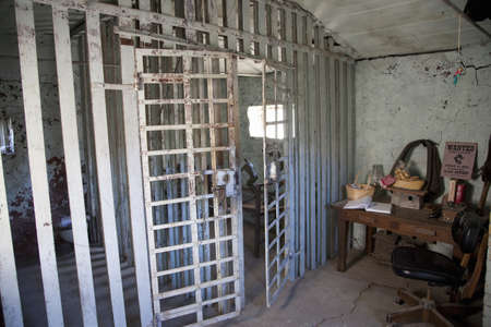 Old jail cells in Ridgeway, Colorado