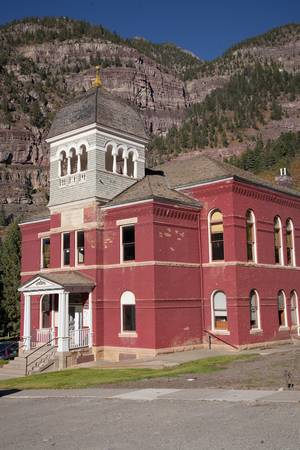 ouray: Ouray County Courthouse in Ouray, Colorado Editorial
