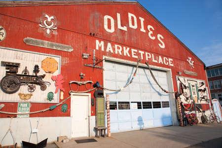 oldies: Old doors at Oldies Marketplace in Newburyport, Massachusetts