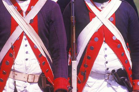american revolution: Historical Reenactment, Daniel Boone Homestead, Brigade of American Revolution, Continental Army Infantry