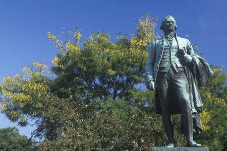 alexander hamilton: Statua di Alexander Hamilton a Paterson, New Jersey Editoriali