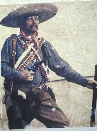 plymouth: Polaroid Transfer of Gringo cowboy on Plymouth Plantation, Massachusetts
