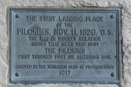 First landing spot of the Pilgrims, Provincetown, Cape Cod, Massachusetts