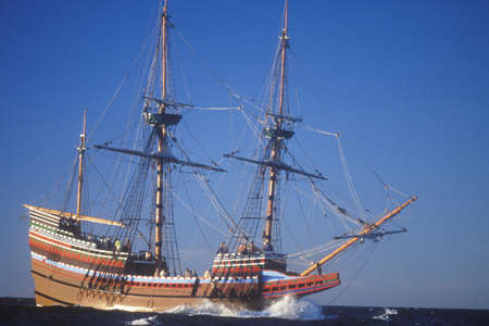 mayflower: Mayflower II Replica on sea, Massachusetts