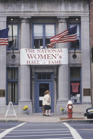 seneca: Exterior of entrance to the Womens Hall of Fame, Seneca Falls, NY