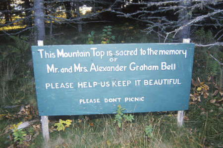 graham: Site of the grave of Alexander Graham Bell, Cape Breton Island, Nova Scotia