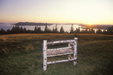 graham: Sunset over home of Alexander Graham Bell, Cape Breton Island, Nova Scotia