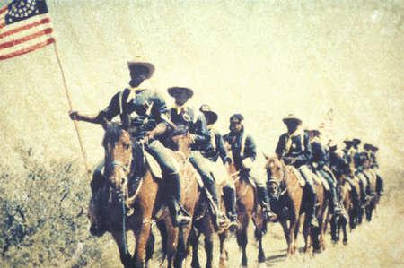 폴라로이드 전투 전투에서 군인의 내란 중 재현 Bull Run of Bull Run, Virginia
