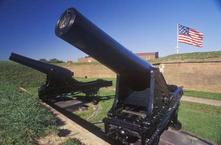 md: Cannon outside Fort McHenry National Monument in Baltimore, MD