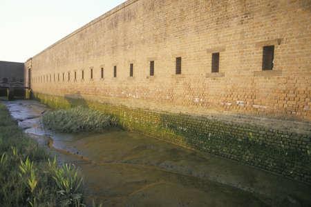 jackson: Moat surrounding Fort Jackson in Savannah, GA