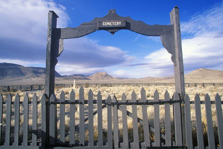 churchill: Fence surrounding pioneer cemetery in Fort Churchill State Park, NV Editorial