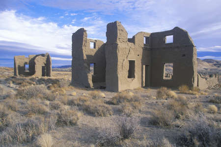 nv: Abandoned Old Army Post in Fort Churchill State Historical Park, NV Editorial
