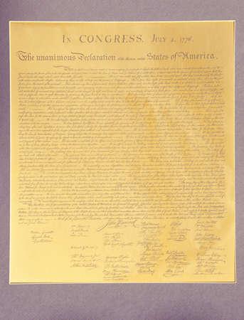 declaration: Replica of Declaration of Independence