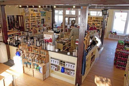 ハーバード大学、マサチューセッツ州の町で雑貨店インテリア 報道画像