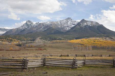 colorado mountains: Scenery of San Juan Mountains range near Ridgeway, Colorado Stock Photo