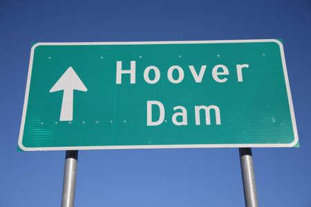 signboard: Hoover Dam signboard