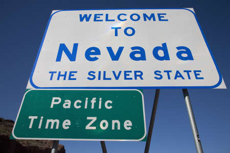 Nevada State welcome signage