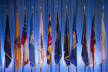State flags at the National Guard Association in Reno, Nevada