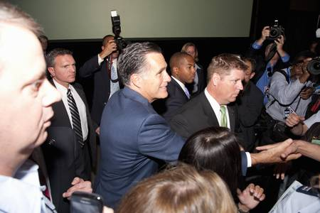 2012 Republican Presidential Candidate, Governor Mitt Romney greeting supporters at a Presidential Campaign rally in Henderson, Nevada