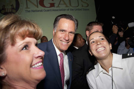 2012 Republican Presidential Candidate, Governor Mitt Romney at a Presidential Campaign rally in Henderson, Nevada
