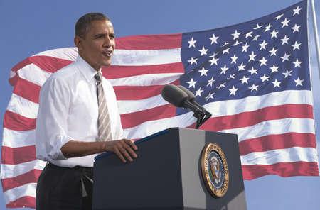 버락 오바마 대통령은 미국의 국기의 배경에 대해 말하기