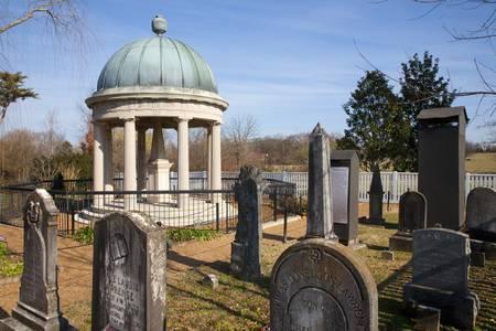 Stock Photo   Tomb Of Andrew And Rachel Jackson At The Hermitage Garden,  Nashville, TN