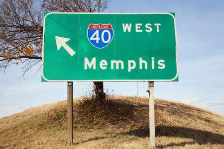 Verkeersbord aan Highway 40 West in TN
