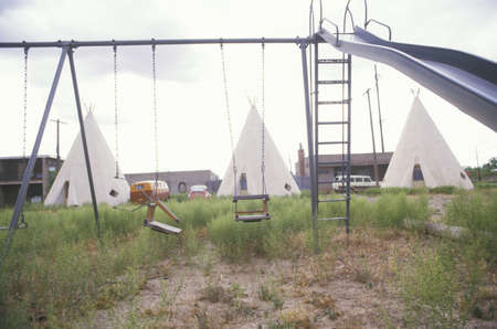 nm: Childrens swing set and teepees, NM