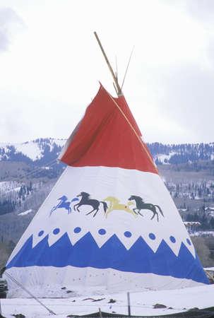 tepee: Red, white and blue Tipi, Park City, UT