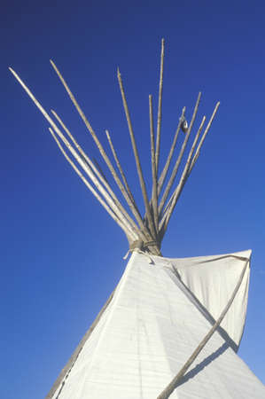 nm: Top of a teepee in Taos, NM Editorial