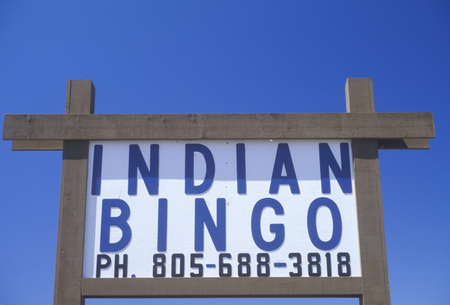 advertise with us: Indian Bingo sign in Northern CA Editorial