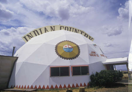 nm: Indian Country domed tourist shop in NM Editorial