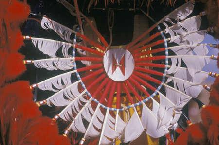 Native American headdress for the ceremonial Corn Dance, Santa Clara Pueblo, NM
