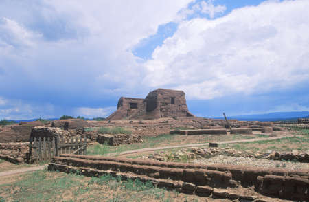 nm: Spanish Mission ruins, Pecos National Historical Park, NM