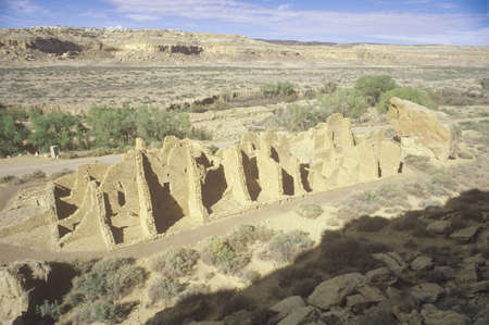 chaco: Chaco Canyon Indian ruins, NM, circa 1060, The Center of Indian Civilization, NM Editorial