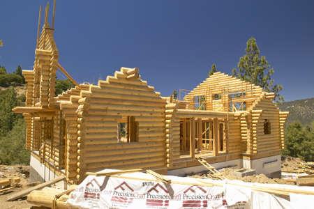 Baustelle des Log Cabin