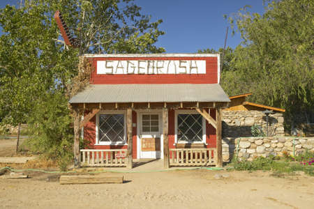 western usa: Front view of Sagebrush cafe