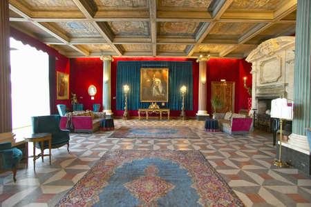 Hotel Negresco, Nice의 가장 유명한 호텔 인 Nice, France의 인테리어
