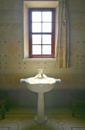 Bathroom at the Villa Kerylos, located on Pointe des Fourmis, in Beaulieu-Sur-Mer, France