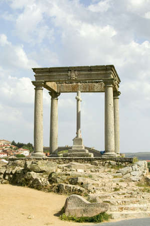 postes: Cuatros Postes (Four Pillars or Posts), Avila Spain, an old Castilian Spanish village