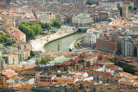 bilbo: Elevated view of Bilbao, Spain (Bilbo) and river Ibaizabal
